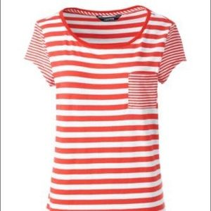 NWOT Land's End Striped Tee